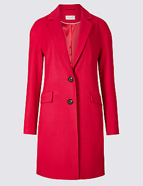 Textured Coat, CHERRY RED, catlanding