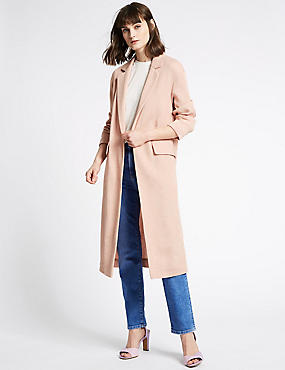 Plisse Duster Coat , COPPER ROSE, catlanding