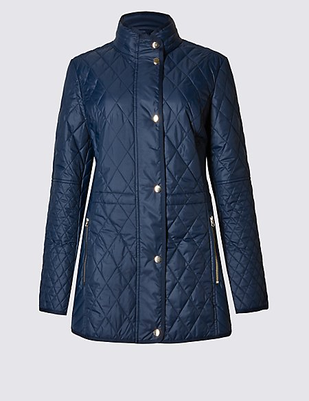 Longline Quilted Coat with Stormwear™