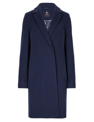 Oversized Wool Blend Double Breasted Coat with Cashmere Clothing