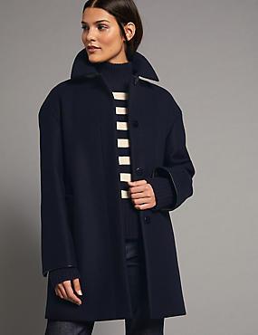 Ladies black coat marks and spencer