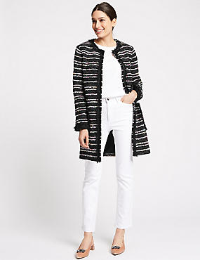 Textured Multi Colour Coat , MULTI, catlanding
