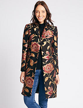 Floral Print Coat with Stormwear™