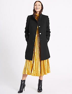 PETITE Waist Stitch Detail Coat