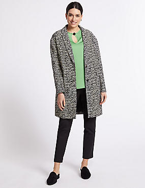 Cotton Rich Animal Print Coat