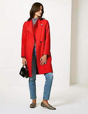 Funnel Neck Coat, , catlanding