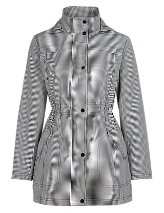 Gingham Checked Parka with Stormwear™ Clothing