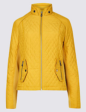 Quilted Jacket with Stormwear™, MEDIUM GOLD, catlanding
