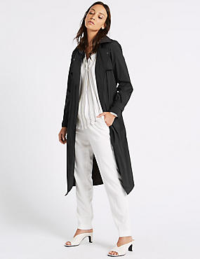 Stretch Trench Coat with Stormwear™, BLACK, catlanding