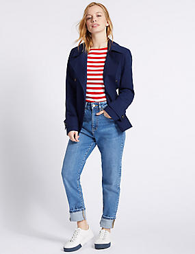 PETITE Trench Coat with Stormwear™, NAVY, catlanding
