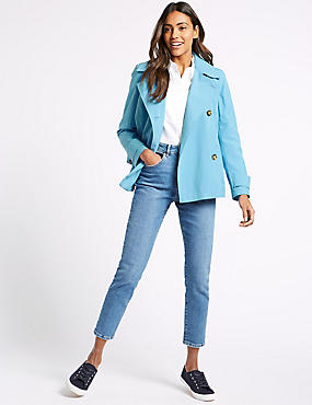 Double Breasted Trench Coat with Stormwear™, SKY BLUE, catlanding