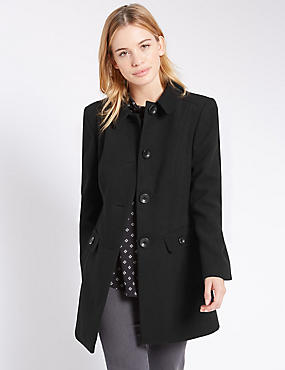 PETITE Slip Pocket Dolly Coat