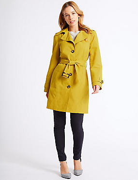 PETITE Trench Coat with Stormwear™, WINTER LIME, catlanding