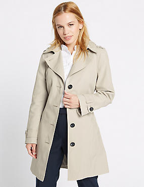 PETITE Trench Coat with Stormwear™, PEBBLE, catlanding