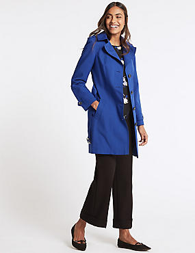 Trench Coat with Stormwear™, COBALT, catlanding