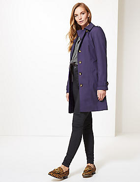 Trench Coat with Stormwear™, PURPLE, catlanding