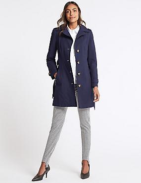 Trench Coat with Stormwear™, NAVY, catlanding