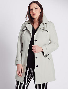 PLUS Belted Trench Coat with Stormwear™