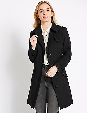 PETITE Belted Trench Coat with Stormwear™