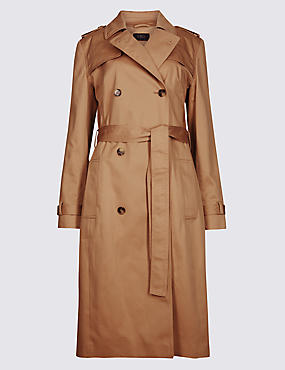 Pure Cotton Longline Trench with Stormwear™