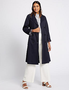 Pure Cotton Trench Coat with Stormwear™