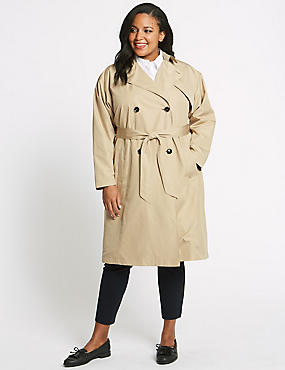 CURVE Belted Trench Coat, STONE, catlanding