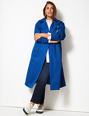 CURVE Longline Trench Coat with Stormwear™, RICH BLUE, catlanding