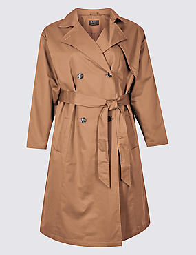 CURVE Longline Trench Coat with Stormwear™, GOLDEN TAN, catlanding