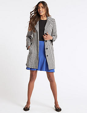 Gingham Trench Coat with Stormwear™, BLACK MIX, catlanding