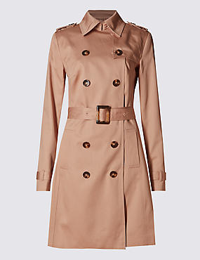 Pure Cotton Belted Trench Coat with Stormwear™