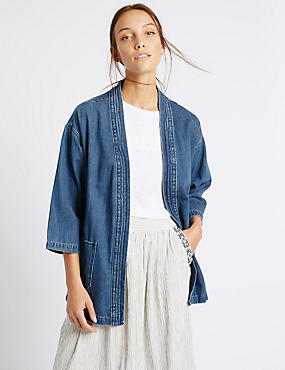 Denim Judo Jacket with Belt