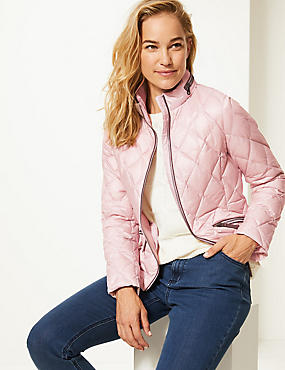 Padded Down & Feather Jacket with Stormwear™, PINK CLOUD, catlanding