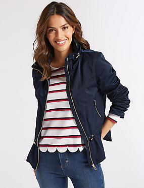 Drawstring Waist Anorak Jacket with Stormwear™, NAVY, catlanding