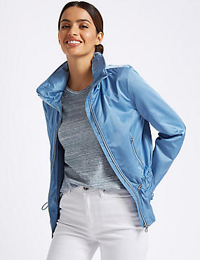 Drawstring Waist Anorak Jacket with Stormwear™, AZURE BLUE, catlanding