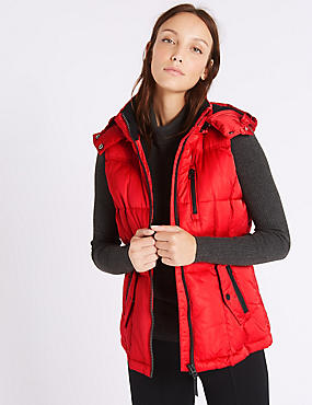 Satin Padded Gilet with Stormwear™, RED, catlanding