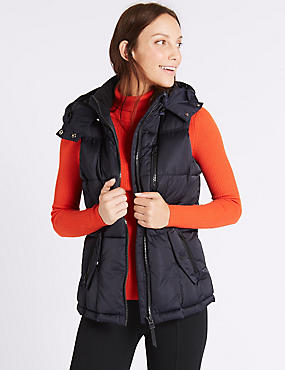 Satin Padded Gilet with Stormwear™