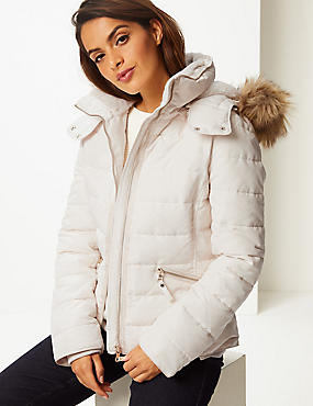 Padded Jacket with Stormwear™, SOFT WHITE, catlanding