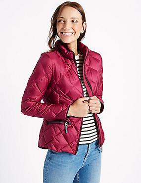 Down & Feather Jacket with Stormwear™, RASPBERRY, catlanding