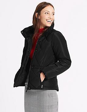 Padded Jacket with Stormwear™, BLACK, catlanding