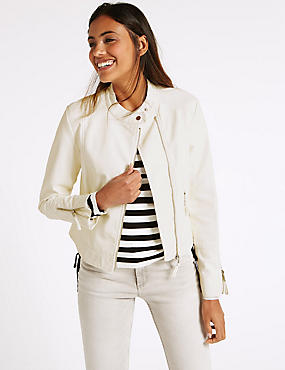 2 Pocket Zipped Moto Jacket