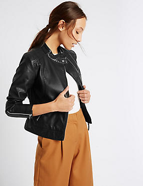 Twin Pocket Zipped Moto Jacket