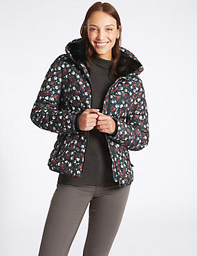 Floral Print Padded Jacket with Stormwear™