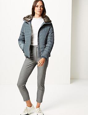 Padded Jacket with Stormwear™, ICE BLUE, catlanding