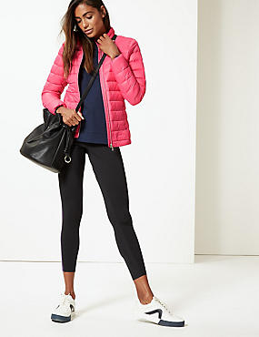 Lightweight Down & Feather Jacket, BRIGHT PINK, catlanding