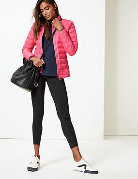Lightweight Down & Feather Jacket, BRIGHT PINK, catlanding