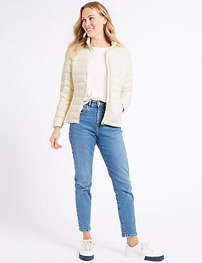 Lightweight Down & Feather Jacket, CREAM, catlanding