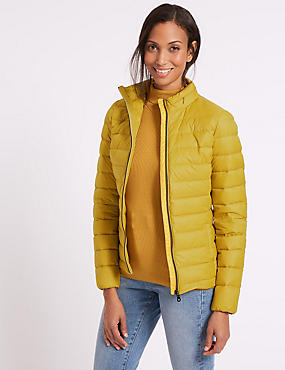 Lightweight Down & Feather Jacket, WINTER LIME, catlanding