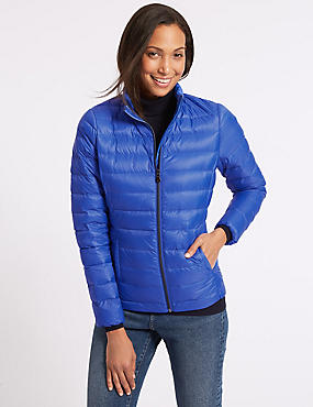 Lightweight Down & Feather Jacket, ROYAL BLUE, catlanding