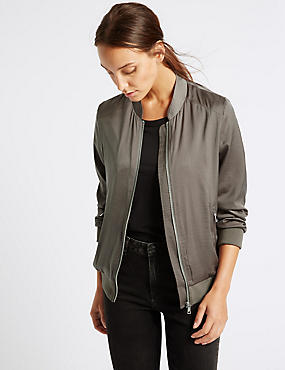 Slinky Twin Pocket Bomber Jacket
