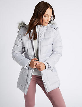 Satin Padded Jacket with Stormwear™